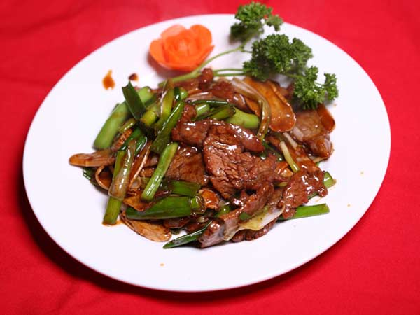 Beef with Ginger and Scallions