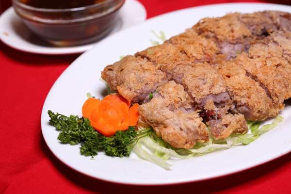 Crispy Taro Pan Fried Duck