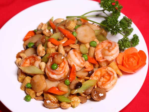 Jumbo Shrimp with Cashew Nut