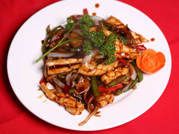 Squid with Black Bean Sauce