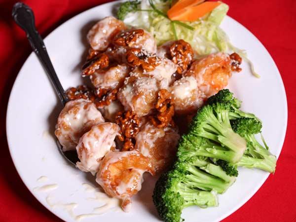 Jumbo Shrimp with Honey Walnut